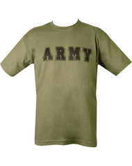 Army T Shirt in Olive Green