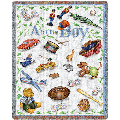 Little Boy Mini Blanket Tapestry Throw