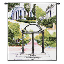 University of Georgia Arch Wall Tapestry With Rod Wall Tapestry