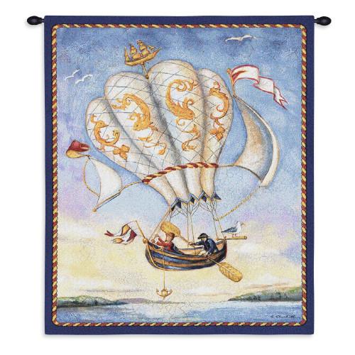 Airship Wall Tapestry Wall Tapestry