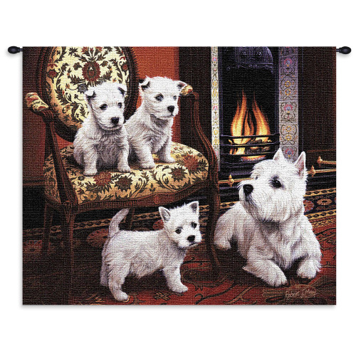 West Highland White Terrier Wall Tapestry Wall Tapestry