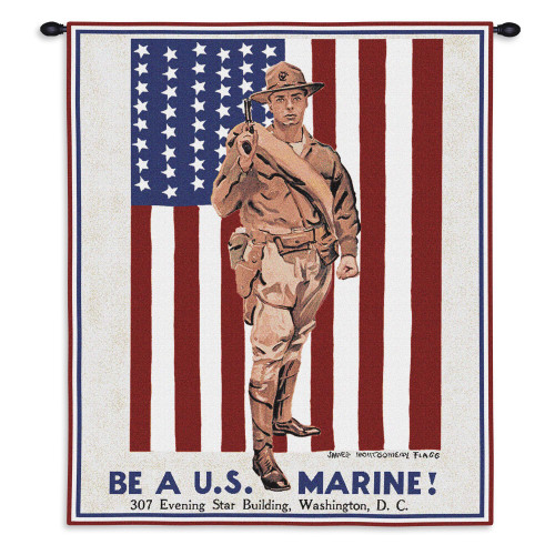 Be A Marine Wall Tapestry Wall Tapestry