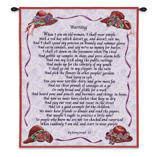 Warning Wall Tapestry Wall Tapestry
