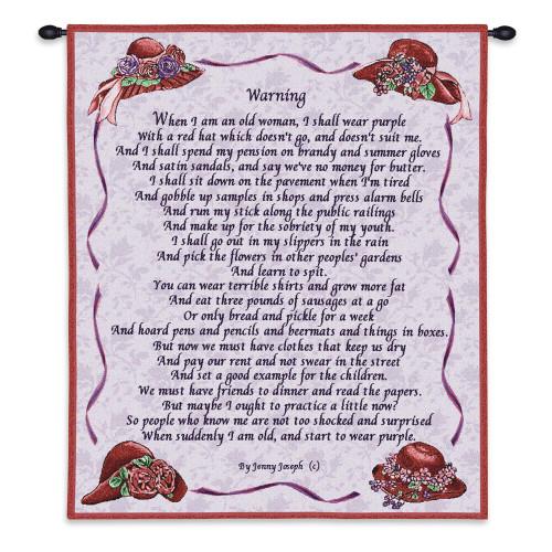 Warning Wall Tapestry Wall Tapestry