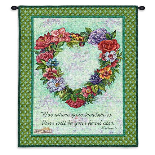 Treasured Heart Wall Tapestry Wall Tapestry