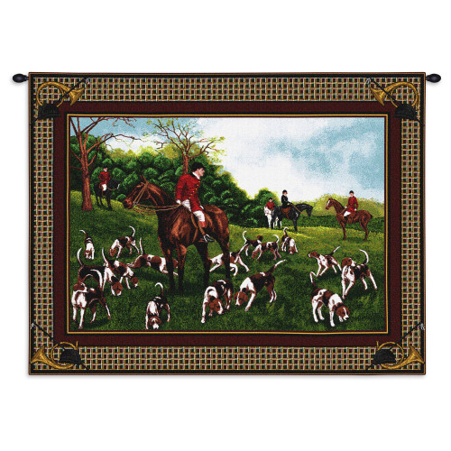 Fox Hunt Wall Tapestry Wall Tapestry