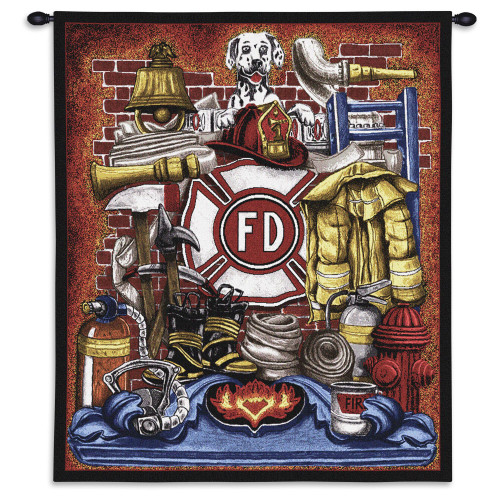Fireman Pride Wall Tapestry Wall Tapestry