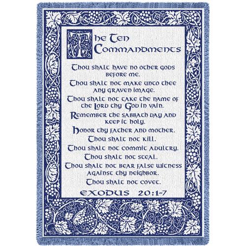 Ten Commandments Natural Blanket Afghan