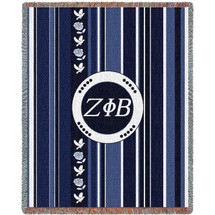 Zeta Phi Beta Stripe Blanket Tapestry Throw