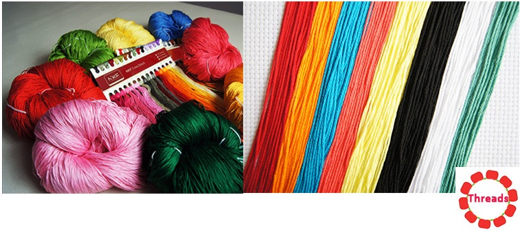 Cross Stitch Kit - Egyptian Cotton Floss Threads