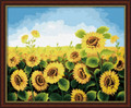 Sunflowers Field 40x50cm paint by numbers.