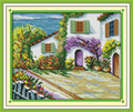 The Beautiful Courtyard Cross Stitch Kit 48x40cm
