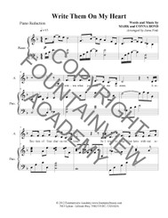 Write Them On My Heart - Piano Sheet Music