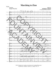 Marching to Zion - Score and Instrumental Parts