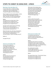 Lyrics - Steps to Christ in Song