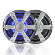 "Fusion 7.7"" 280 WATT Coaxial Sports Chrome Marine Speakers with LED's"