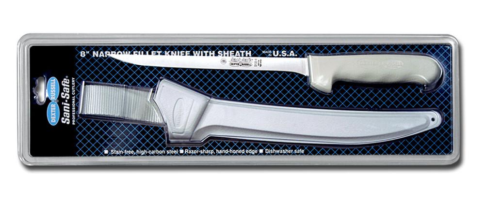 S133-8WS1 Dexter Sani-Safe 8 inch narrow fillet knife w/sheath