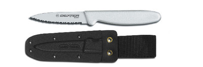 "Dexter Russell Basics 3 1/8"" Small Bait Chunking Knife With Sheath VB3933"