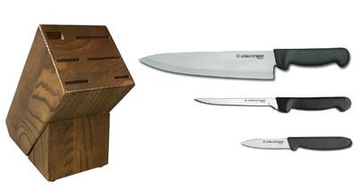 Dexter Russell Cutlery Basics Starter Knife Block Set - Black VB4044