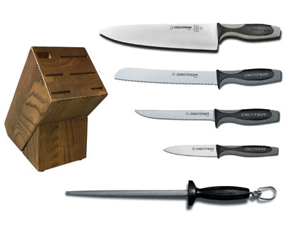 Dexter Russell Cutlery V-Lo Essential Knife Block Set VB4050