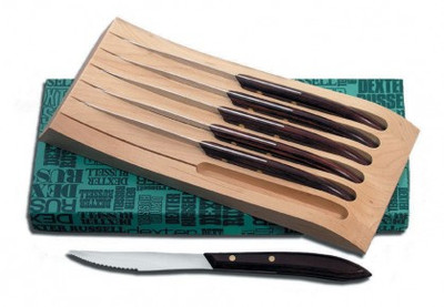 Dexter 6 PC. Steak Knife Set With Wood Block 20111 965S-6