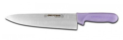 "Dexter Russell Sani-Safe 8"" Cook's Knife Purple Handle 12443P S145-8P-PCP"