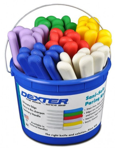 Dexter Russell Sani-Safe Bucket of 48 Parers Assorted Colors 15483 S104-48B (15483)