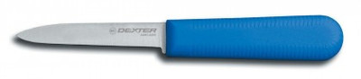 "Dexter Russell Sani-Safe 3 1/4"" Cooks Style Paring Knife Blue Handle 15303C S104C-PCP (15303C)"