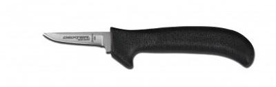 """Dexter Russell Sani-Safe 2 1/2"""" Tender/Shoulder/Trim Poultry Knife Black Handle 11183B EP151HGB (11183B)"""