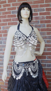 Gorgeous Coin Bra and Belt . Bra is available in M. L. XL