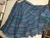 Rainbow Lurex Skirt Blue 32 Yards