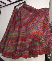 Rainbow Lurex Skirt Red 32 Yards