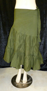 Beautiful Half Wrap Skirt Army Green