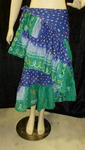 Beautiful Half Wrap Jaipur blue green 2