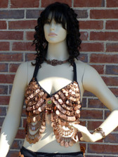 Beautiful Coin Bra in Copper