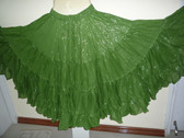 Gorgeous Green Silver 25 Yard Lurex Skirt