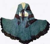 25 Yard Jaipur Skirt and Matching Top Grey Maroon $ 120