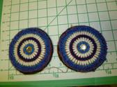 Identical Pair of Kuchi Medallions called Guls 5