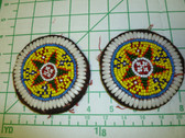 Identical Pair of Kuchi Medallions called Guls 6
