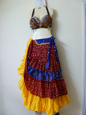 Bright and Beautiful Tribal Ensemble in Red, blue &, yellow