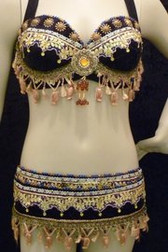 Purple Rajasthan Gota Patti Purple Bra and Belt Set