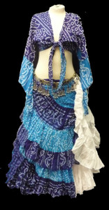 25 Yard Jaipur Skirt and Top Turq Blue