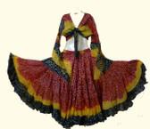 25 Yard Jaipur Skirt and Top Red Black Yellow