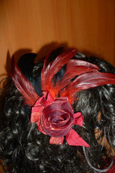 Beautiful Hair Fascinator Red