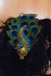 Beautiful Hair Fascinator Peacock 1