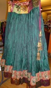 Gorgeous Green Crush Silk Skirt
