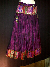 Beautiful Wine Crushed Silk Skirt