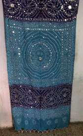 Brilliant  Banjara Veil with Sequins and Cowrie Shells! #4