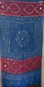 Brilliant  Banjara Veil with Sequins and Cowrie Shells! #5