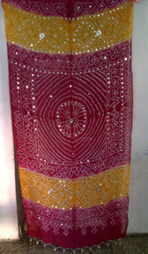 Brilliant  Banjara Veil with Sequins and Cowrie Shells! #10